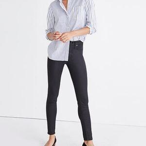 Madewell Skinny Skinny Ankle Lakestorm Coated Jean